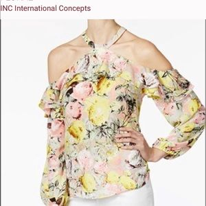 I.N.C. International Concepts Cold Shoulder Top
